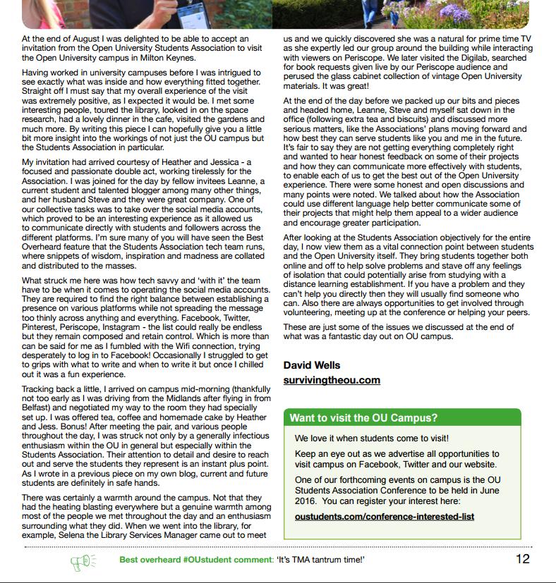 Open University Students Magazine
