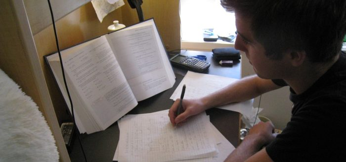 OU Student Revising for an Exam