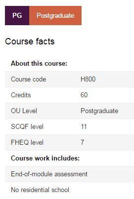 Open University Postgraduate